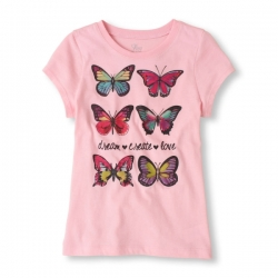 T-shirt BUTTERFLY PLACE 1989 USA
