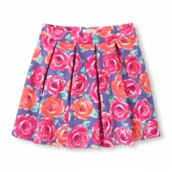 Pleated skirt FLORAL PLACE 1989 USA