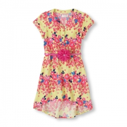 Dress Hi-low FLORAL PLACE 1989 USA