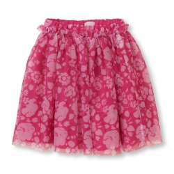 Skirt FLORAL MESH PLACE 1989 USA