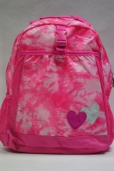 School Backpack Pink Hearts PLACE 1989 USA